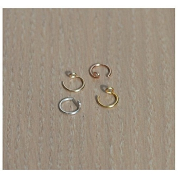 20 Gauge Nose Ring, Fake Nose Ring,Nose Hoop, Nose Ring Hoop, Faux Nose ring, Nasenring, Fake Nasenring Nase Hoop, Nose Ring Hoop, Faux Nasenring -