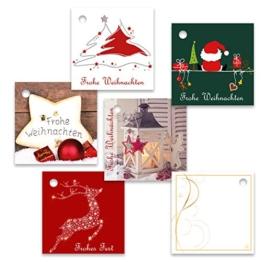 "25er Pack Geschenkanhänger ""Frohe Weihnachten"" ca. 55 x 55 mm verschiedene Motive, Weihnachtsanhänger, Geschenkkärtchen, Anhänger, Geschenkkarte, Geschenkkarten, Anhängeetikett, Topper -"
