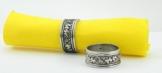 6 Pack Serviettenringe zinn Silber, handgefertigt in Italien von Cavagnini -