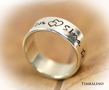 925 Silberring mit Gravur,m Familienring, handgestempelt -