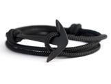 Anker Armband Black n` Black - Bracelet - Bangle - Surferarmband - Freundschaftsarmband -Wichteln -Weihnachtsgeschenk - Herren Armband - Edelstahl - maritimer Schmuck - Ankerarmband - nautisches Armband -