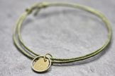 Armband Circle mini Gravur vegan Freundschaftsamband -