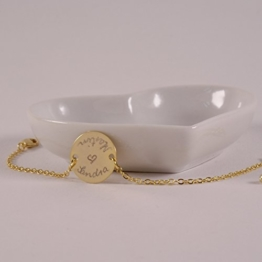 Armband mit Gravur, personalisiertes Armband, Namensarmband, Namenarmband, Gold, 16k vergoldet -