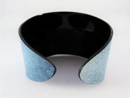 Armreif aus Schallplatte - blau // 4 Varianten // 3 Größen -