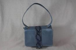 ausgefallene Handtasche Echtleder und Jeans -