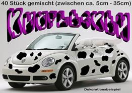 Autoaufkleber/Wandtattoo - Komplett-Set ***KUHFLECKEN*** - 50 Stück gemischt - 5cm bis 35cm -