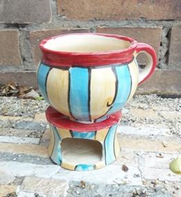 Becher Set Tasse mit Stövchen Keramik in astertricks -