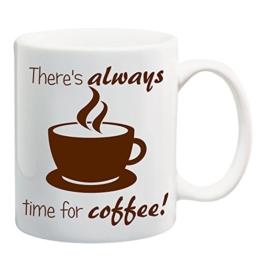 Bedruckte Tasse mit Motiv Coffee time Motivtasse Kaffeebecher Kaffeetasse -