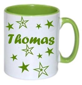 Bedruckter Kaffeebecher Tasse mit Namen Namentasse personalisiert nach Wunsch -