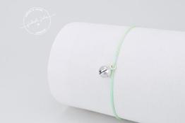 BELLE - zartes layering Armband (925 Sterling Silber & Nylon) -