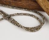braune, facettierte Diamanten Kette 43,8 Karat, 4,7 mm (Gelbgold 585) Diamantenkette -