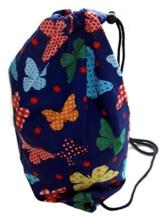 Bunte Schmetterlinge Turnbeutel Spielzeugsack - Blau -