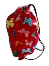 Bunte Schmetterlinge Turnbeutel Spielzeugsack - Rot -