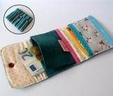 """Bunter Patchwork-Geldbeutel """"stripe one"""" 10 x 8,5 cm von frollein cosa -"""