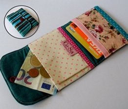 "Bunter Patchwork-Geldbeutel ""stripe two"" 10 x 8,5 cm von frollein cosa -"
