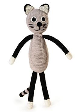 Cat Grey. Gehäkeltes Kinderspielzeug -