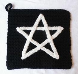 "Cooler Topflappen ""Pentagramm"" -"