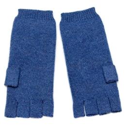Damen fingerless Kaschmir Handschuhe, 100% Kaschmir gestrickt Handschuhe für Frauen, High-End Luxus mongolischen Kaschmir (26/2 2 ply Garn) Kaschmir Handschuh Blau -