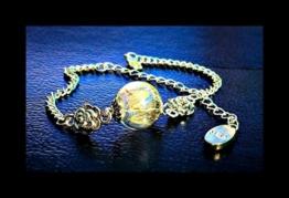Dandelion Seed Wish Armband in Silber Real Dandelion Seeds Blume Schmuck Armreif -