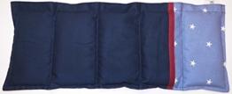 Dinkelkissen Körnerkissen mit Option Namen bestickt Wärmekissen marine sterne 100% Baumwolle 50x20cm -