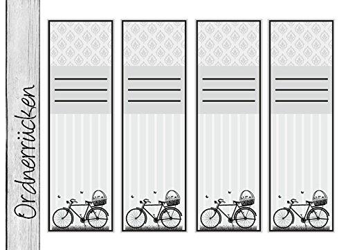 diy 4 ordnerr cken vintage f r breite ordner 3 verschiedene motiv sets zur auswahl. Black Bedroom Furniture Sets. Home Design Ideas
