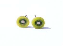 ☆ Kiwi ☆ fruchtige Ohrstecker ☆ Kiwiohrstecker Kiwiohrringe -
