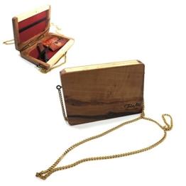 Echtholz Handtasche mit Megnetverschluss - Tasche - Wooden Bag - Handgefertigt - Made in Germany -