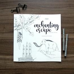 enchanting escape - Ausmalbuch für Erwachsene - Kunsttherapie - großes Malbuch - sehr detallierte Bilder zum Ausmalen - Stress überwinden mit Ausmalen - magische Motive -