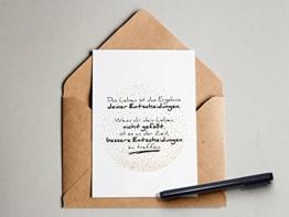 """""""Entscheidungen"""" Grußkarte mit Gold-Imitation -"""