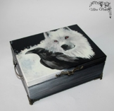 Exklusive Holzbox ,Schatulle ,Box, Schachteln, Kästchen, wood, Game of Thrones,Stark, Winter is coming -