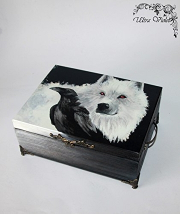Exklusive Holzbox ,Schatulle ,Box, Schachteln, Kästchen, wood, Game of Thrones,Stark, Winter is coming -