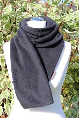 FleeceBand schwarz, Körner- Schal seite, Nacken, Traubenkernkissen, Nackenschmerzen, Körnerkissen Nacken, Wärmekissen, Wärmetherapie -