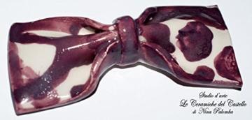 Fliege Keramik Action Painting Linie Piece Unique Hergestellt und von Hand bemalt Le Ceramiche del Castello Made in Italy Maße: 10.5 x 5 cm -