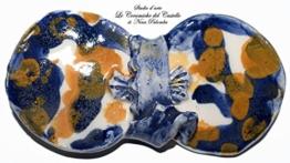 Fliege Keramik Action Painting Linie Piece Unique Hergestellt und von Hand bemalt Le Ceramiche del Castello Made in Italy Maße: 10 x 5 cm -