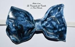 Fliege Keramik Antiquae Linie Italien Piece Unique Hergestellt und von Hand bemalt Le Ceramiche del Castello Made in Italy Maße: 9.5 x 5 cm. -
