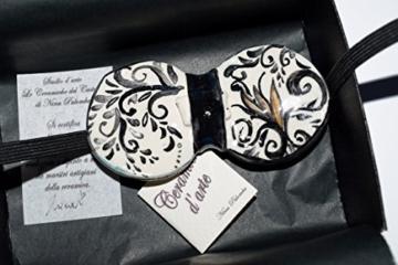 Fliege Keramik Antiquae Linie Piece Unique Hergestellt und von Hand bemalt Le Ceramiche del Castello Made in Italy Maße: 10 x 5 cm -