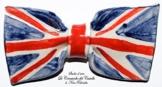Fliege Keramik Flag Linie U.K. Piece Unique Hergestellt und von Hand bemalt Le Ceramiche del Castello Made in Italy Maße: 9 x 5 cm -