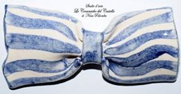 Fliege Keramik Klassischen Linie Piece Unique Hergestellt und von Hand bemalt Le Ceramiche del Castello Made in Italy Maße: 9,5 x 4,5 cm -