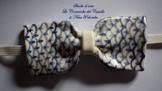Fliege Keramik Klassischen Linie Piece Unique Hergestellt und von Hand bemalt Le Ceramiche del Castello Made in Italy Maße: 10,5 x 5 cm. -