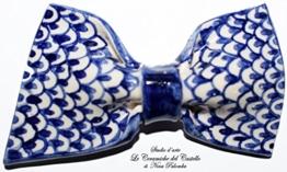 Fliege Keramik Klassischen Linie Piece Unique Hergestellt und von Hand bemalt Le Ceramiche del Castello Made in Italy Maße: 9 x 5 cm -