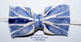 Fliege Keramik Klassischen Linie Piece Unique Hergestellt und von Hand bemalt Le Ceramiche del Castello Made in Italy Maße: 10 x 5 cm. -