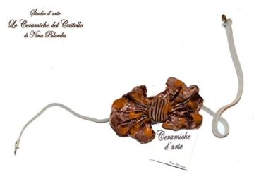 Fliege Keramik Klassischen Linie Piece Unique Hergestellt und von Hand bemalt Le Ceramiche del Castello Made in Italy Maße: 9 x 5 cm. -