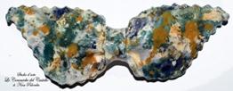 Fliege Keramik Linie Action Painting Piece Unique Hergestellt und von Hand bemalt Le Ceramiche del Castello Made in Italy Maße: 14 x 5,5 cm -