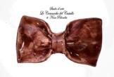 Fliege Keramik Linie Monochrome Bordeaux Piece Unique Hergestellt und von Hand bemalt Le Ceramiche del Castello Made in Italy Maße: 9 x 5,5 cm -