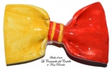 Fliege Keramik Linie Monochrome Piece Unique Hergestellt und von Hand bemalt Le Ceramiche del Castello Made in Italy Maße: 9 x 5 cm -