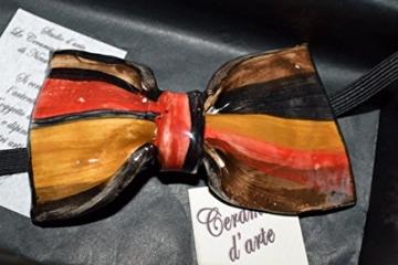 Fliege Keramik Linie Monochrome Piece Unique Hergestellt und von Hand bemalt Le Ceramiche del Castello Made in Italy Maße: 9 x 5,5 cm -