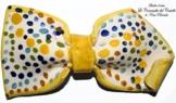 Fliege Keramik Linie Monochrome Piece Unique Hergestellt und von Hand bemalt Le Ceramiche del Castello Made in Italy Maße: 11 x 6 cm -