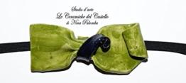 Fliege Keramik Monochrome Linie Piece Unique Hergestellt und von Hand bemalt Le Ceramiche del Castello Made in Italy Maße: 10 x 5 cm. -
