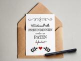 """'Freundin / Patin"" Grußkarte -"