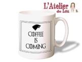 Game of Thrones - Coffee is Coming Mug - House of Stark Kaffeetasse Kaffeebecher - Originelle Geschenkidee - Spülmaschinefest. -